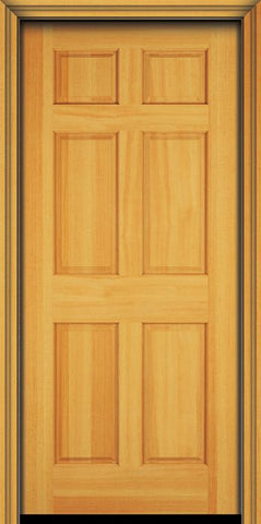 WDMA 30x96 Door (2ft6in by 8ft) Exterior Fir 96in 6 Panel Single Door 1