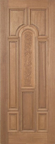 WDMA 30x96 Door (2ft6in by 8ft) Exterior Mahogany Revis Single Door Carved Panel - 8ft Tall 1