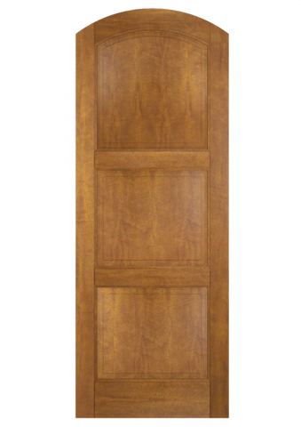 WDMA 30x96 Door (2ft6in by 8ft) Interior Swing Mahogany 3 Panel Arch Top Solid Exterior or Single Door 2
