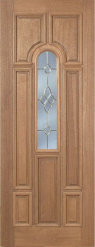 WDMA 30x96 Door (2ft6in by 8ft) Exterior Mahogany Revis Single Door w/ C Glass - 8ft Tall 1