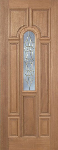 WDMA 30x96 Door (2ft6in by 8ft) Exterior Mahogany Revis Single Door w/ OL Glass - 8ft Tall 1