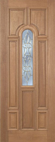 WDMA 30x96 Door (2ft6in by 8ft) Exterior Mahogany Revis Single Door w/ L Glass - 8ft Tall 1