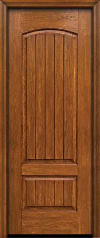 WDMA 30x96 Door (2ft6in by 8ft) Exterior Cherry 96in Plank Two Panel Single Entry Door 1