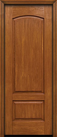 WDMA 30x96 Door (2ft6in by 8ft) Exterior Cherry 96in Two Panel Camber Single Entry Door 1