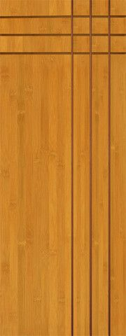 WDMA 30x96 Door (2ft6in by 8ft) Interior Swing Bamboo BM-3 Moderno Flush Panel Grooved Panel Modern Single Door 1