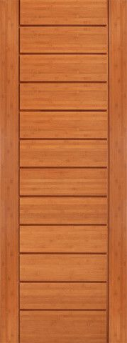 WDMA 30x96 Door (2ft6in by 8ft) Interior Swing Bamboo BM-2 Metro Flush Panel Grooved Panel Modern Single Door 1