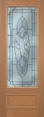 WDMA 30x96 Door (2ft6in by 8ft) Exterior Mahogany Livingston Single Door w/ BO Glass - 8ft Tall 1