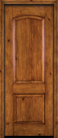 WDMA 30x96 Door (2ft6in by 8ft) Exterior Knotty Alder 96in Alder Rustic Plain Panel Single Entry Door 1