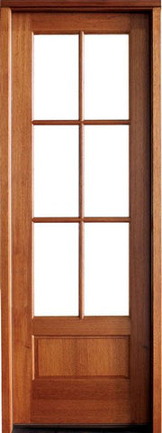 WDMA 30x96 Door (2ft6in by 8ft) Patio Swing Mahogany Alexandria TDL 6 Lite Single Door 1
