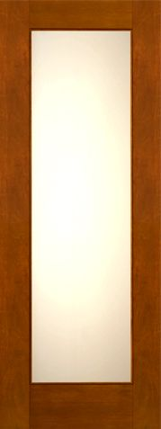 WDMA 30x96 Door (2ft6in by 8ft) Exterior Mahogany 2-1/4in Thick Contemporary Door Low-E Glass 1