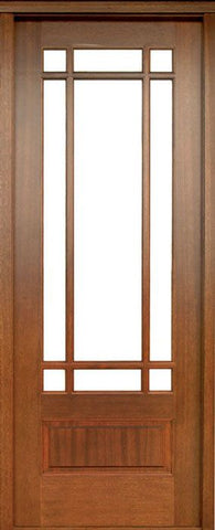 WDMA 30x96 Door (2ft6in by 8ft) Exterior Swing Mahogany Alexandria TDL 9 Lite Single Door 1