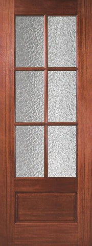 WDMA 30x96 Door (2ft6in by 8ft) Exterior Mahogany 96in 6 Lite TDL DoorCraft Door w/Textured Glass 1