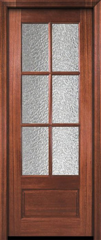 WDMA 30x96 Door (2ft6in by 8ft) Exterior Mahogany 96in 6 Lite TDL DoorCraft Door w/Textured Glass 2