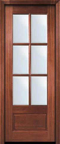 WDMA 30x96 Door (2ft6in by 8ft) Patio Mahogany 96in 6 Lite TDL DoorCraft Door w/Bevel IG 2