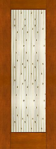 WDMA 30x96 Door (2ft6in by 8ft) Exterior Mahogany 2-1/4in Thick Contemporary Door Art Glass 1