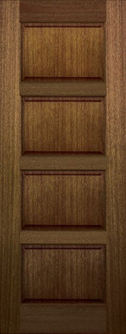 WDMA 30x96 Door (2ft6in by 8ft) Exterior Mahogany 96in 4 Panel DoorCraft Door 1