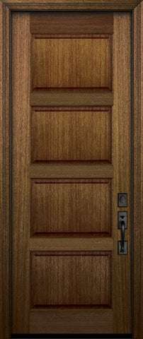 WDMA 30x96 Door (2ft6in by 8ft) Exterior Mahogany 96in 4 Panel DoorCraft Door 2