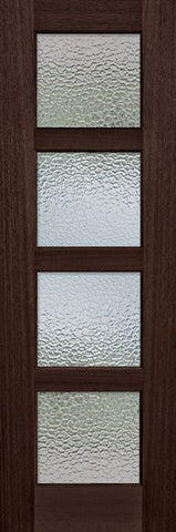 WDMA 30x96 Door (2ft6in by 8ft) Exterior Mahogany 96in 4 lite TDL Continental DoorCraft Door w/Textured Glass 1
