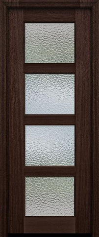 WDMA 30x96 Door (2ft6in by 8ft) Exterior Mahogany 96in 4 lite TDL Continental DoorCraft Door w/Textured Glass 2
