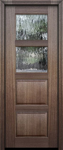 WDMA 30x96 Door (2ft6in by 8ft) Exterior Mahogany 96in 2 lite TDL Continental DoorCraft Door w/Textured Glass 2