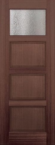 WDMA 30x96 Door (2ft6in by 8ft) Exterior Mahogany 96in 1 lite TDL Continental DoorCraft Door w/Textured Glass 1