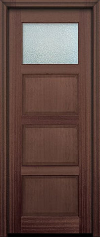 WDMA 30x96 Door (2ft6in by 8ft) Exterior Mahogany 96in 1 lite TDL Continental DoorCraft Door w/Textured Glass 2