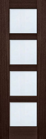 WDMA 30x96 Door (2ft6in by 8ft) Exterior Mahogany 96in 4 lite TDL Continental DoorCraft Door w/Bevel IG 1