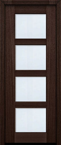 WDMA 30x96 Door (2ft6in by 8ft) Exterior Mahogany 96in 4 lite TDL Continental DoorCraft Door w/Bevel IG 2