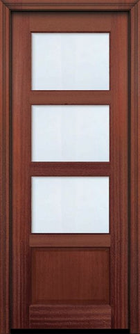 WDMA 30x96 Door (2ft6in by 8ft) Exterior Mahogany 96in 3 lite TDL Continental DoorCraft Door w/Bevel IG 2