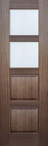 WDMA 30x96 Door (2ft6in by 8ft) Exterior Mahogany 96in 2 lite TDL Continental DoorCraft Door w/Bevel IG 1
