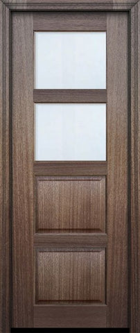 WDMA 30x96 Door (2ft6in by 8ft) Exterior Mahogany 96in 2 lite TDL Continental DoorCraft Door w/Bevel IG 2