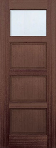 WDMA 30x96 Door (2ft6in by 8ft) Exterior Mahogany 96in 1 lite TDL Continental DoorCraft Door w/Bevel IG 1