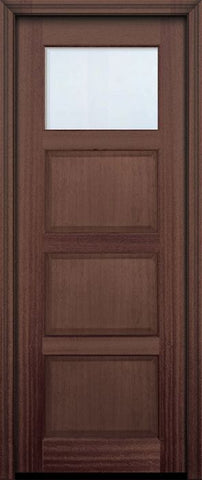 WDMA 30x96 Door (2ft6in by 8ft) Exterior Mahogany 96in 1 lite TDL Continental DoorCraft Door w/Bevel IG 2