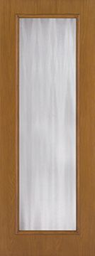 WDMA 30x96 Door (2ft6in by 8ft) Patio Oak Fiberglass Impact Exterior Door 8ft Full Lite Flush Chinchilla 1