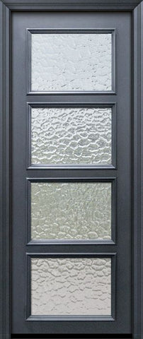 WDMA 30x96 Door (2ft6in by 8ft) Exterior 96in ThermaPlus Steel 4 Lite Continental Door w/ Textured Glass 1