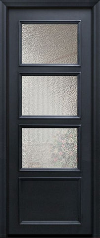 WDMA 30x96 Door (2ft6in by 8ft) Exterior 96in ThermaPlus Steel 3 Lite 1 Panel Continental Door w/ Textured Glass 1