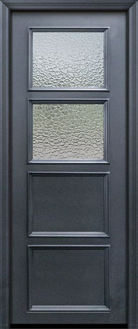 WDMA 30x96 Door (2ft6in by 8ft) Exterior 96in ThermaPlus Steel 2 Lite 2 Panel Continental Door w/ Textured Glass 1