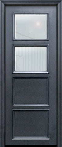 WDMA 30x96 Door (2ft6in by 8ft) Exterior 96in ThermaPlus Steel 2 Lite 2 Panel Continental Door w/ Beveled Glass 1