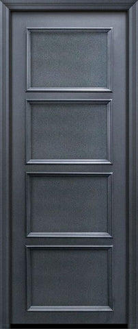 WDMA 30x96 Door (2ft6in by 8ft) Exterior 96in ThermaPlus Steel 4 Panel Solid Continental Door 1