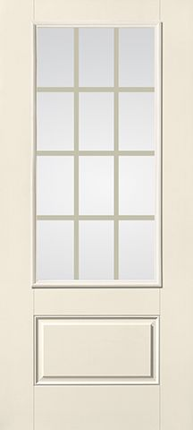 WDMA 32x80 Door (2ft8in by 6ft8in) Patio Smooth fiberglass Impact French Door 6ft8in 3/4 Lite GBG Flat White Low-E 1