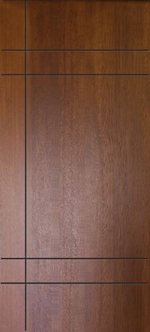 WDMA 32x80 Door (2ft8in by 6ft8in) Exterior Mahogany 80in Inglewood Contemporary Door 1