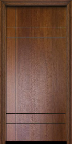 WDMA 32x80 Door (2ft8in by 6ft8in) Exterior Mahogany 80in Inglewood Contemporary Door 2