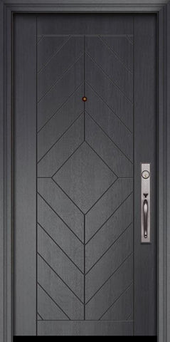 WDMA 32x80 Door (2ft8in by 6ft8in) Exterior Mahogany 80in Lynnwood Contemporary Door 2