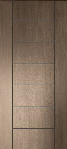 WDMA 32x80 Door (2ft8in by 6ft8in) Exterior Mahogany 80in Brentwood Contemporary Door 1
