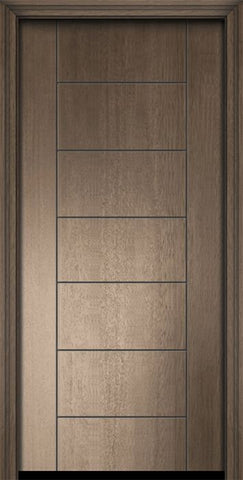 WDMA 32x80 Door (2ft8in by 6ft8in) Exterior Mahogany 80in Brentwood Contemporary Door 2