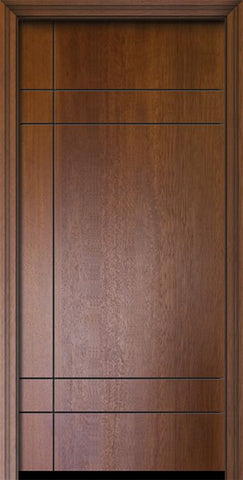 WDMA 32x80 Door (2ft8in by 6ft8in) Exterior Mahogany IMPACT | 80in Inglewood Contemporary Door 1