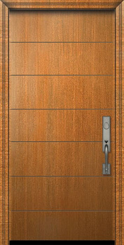 WDMA 32x80 Door (2ft8in by 6ft8in) Exterior Mahogany IMPACT | 80in Westwood Contemporary Door 1