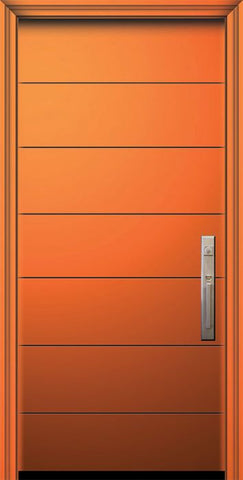 WDMA 32x80 Door (2ft8in by 6ft8in) Exterior Smooth IMPACT | 80in Westwood Contemporary Door 1