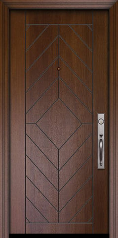 WDMA 32x80 Door (2ft8in by 6ft8in) Exterior Mahogany 80in Lynnwood Solid Contemporary Door 1