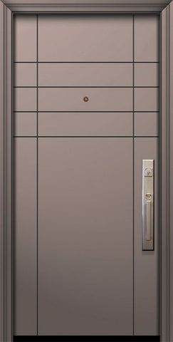 WDMA 32x80 Door (2ft8in by 6ft8in) Exterior Smooth 80in Fleetwood Solid Contemporary Door 1